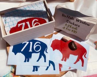 Buffalo 716 Car Window Stickers