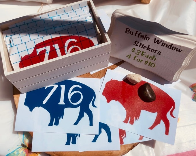 Featured listing image: Buffalo 716 Car Window Stickers