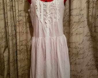 Vintage Victoria Secret s Romantic 100% Cotton Midi length Nightgown 68dadec5d