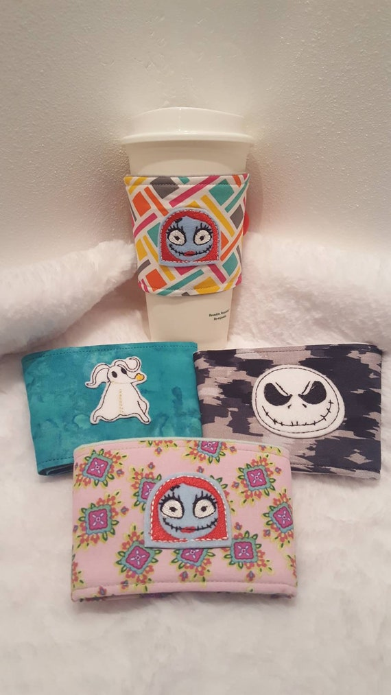 Nbc Inspired Fabric Coffee Cozies/ Sally/ Jack Skellington/ Dog Zero by Etsy
