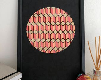 Summer Moon - Geometric print