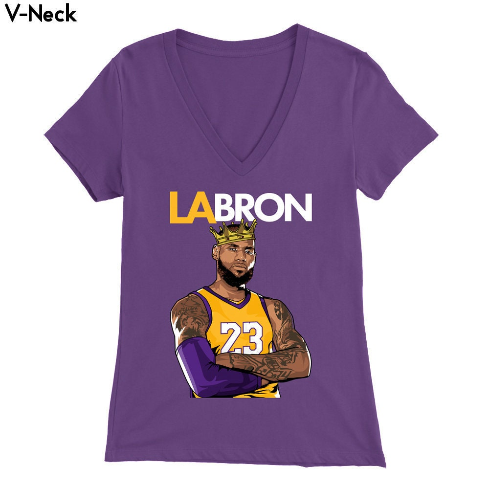 Lebron-Los Angeles LA-Bron Women s Shirt with  449e19d12