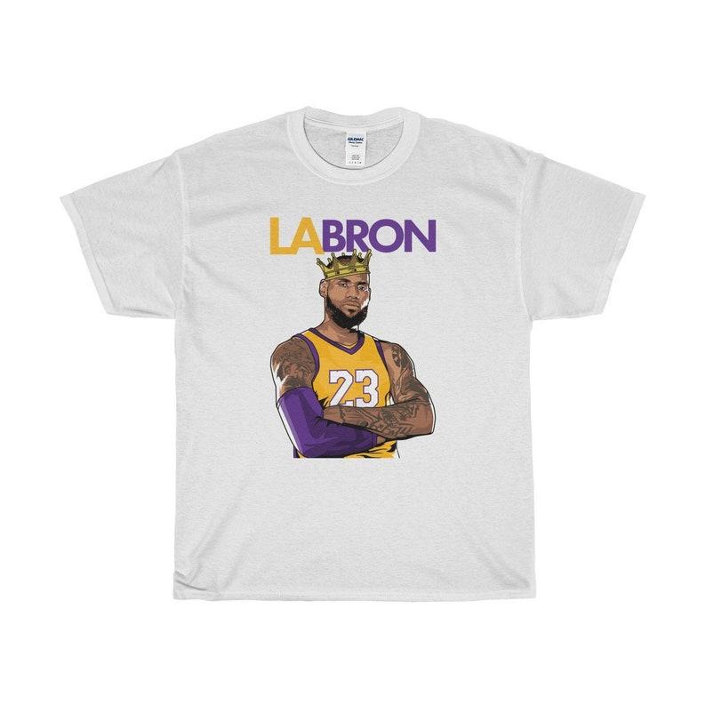 4dea38983 Lebron-Los Angeles LA-Bron T-Shirt with Awesome