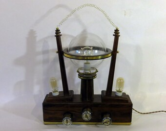 Steampunk Styled Three Gauge Decorative Lamp