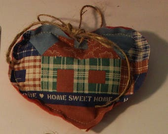 country heart ornaments