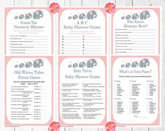 Printable Baby Shower Trivia Games Unicorn Trivia Games Etsy