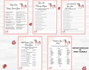Printable baby shower trivia games unicorn trivia games etsy printable baby shower trivia games unicorn trivia games unicorn theme baby girl baby shower games printable baby girl shower game bundle solutioingenieria Image collections