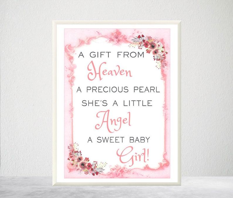 Printable Baby Girl Verse Baby Girl Poem Baby Girl Wall Art Etsy