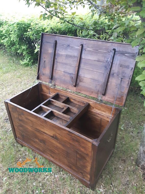 Rustic hope chest, blanket chest for bedroom, storage box for livingroom,  toy box for kids, Christmas gift, 34\