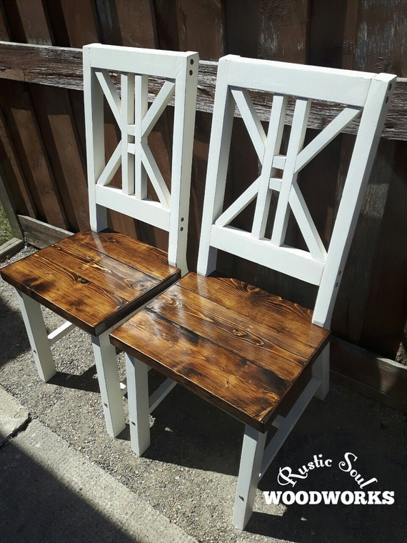 Rustic Dining Chairs Farmhouse Dining Chairs Country Style Etsy
