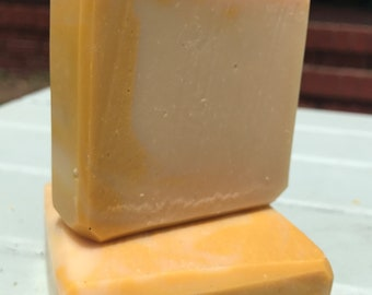 Lemon & Patchouli Handcrafted Goat Milk Soap with Mango Butter