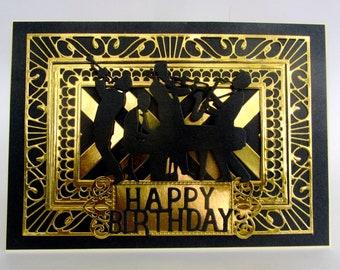 Gold Birthday Card Etsy
