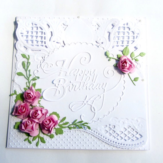 Romantic Old Fashioned Vintage Style Birthday Card For Someone Etsy
