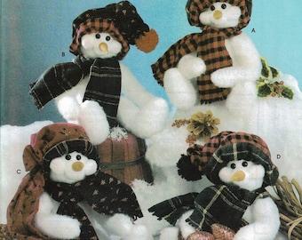 Holiday Plush Snowmen Pattern - Simplicity 4845