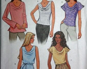 Cowl-Neck Blouse Pattern - Butterick 4132