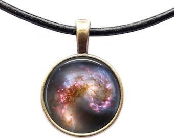 Deep Space necklace Nebula pendant Galaxy jewelry