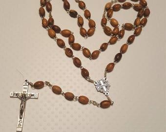 Wooden Beaded Rosary