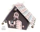 Gingerbread house pattern Christmas village Fairy house PDF pattern