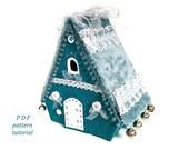 Christmas village sewing pattern Fairy house PDF pattern Felt house