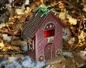 Putz house Fabric christmas village Homemade christmas ornaments