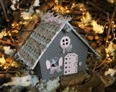 Fairy house Noel decoration Christmas eve box Putz house
