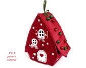 Gingerbread house pattern Christmas village Fairy house sewing pattern
