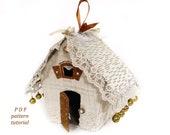 Putz house pattern Christmas village Fairy house sewing pattern PDF
