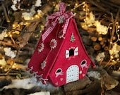 Christmas village Felt putz house Homemade christmas ornaments