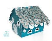 Christmas village pattern Fairy house felt pattern PDF Putz house