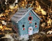 Christmas village Homemade putz house Winter wonderland decorations