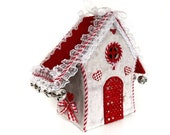 Gingerbread house Fabric Christmas village Putz house