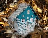 Putz house Homemade christmas village Winter wonderland decorations