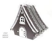 Putz house Christmas village Fairy house PDF pattern