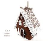Putz house Gingerbread house pattern Christmas village Fairy house PDF pattern