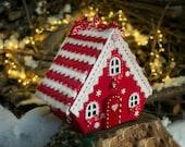 Christmas village Fabric putz house Homemade Noel decoration