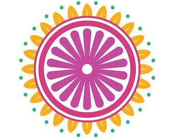 Flower Mandala Cross Sitch Pattern