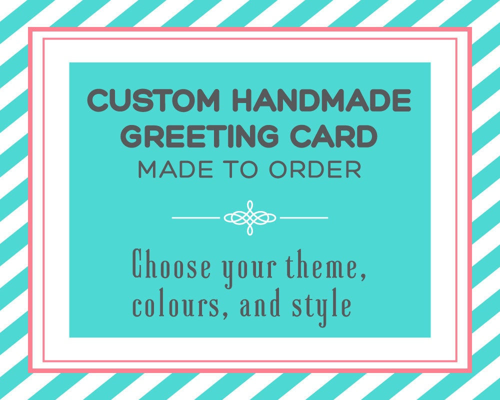 Bespoke Custom Handmade Greeting Cards Made To Order You Etsy