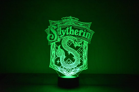 Harry Potter Inspire Serpentard Lampe A Led 16 Couleurs 5 Etsy
