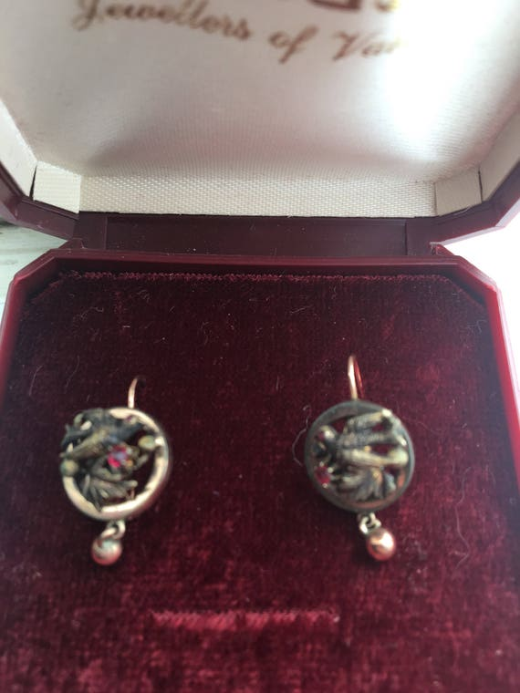 Antique victorian earrings - image 2