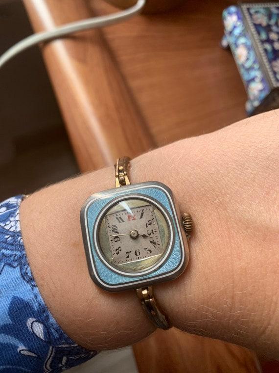 Antique Enamel art Art Deco watch