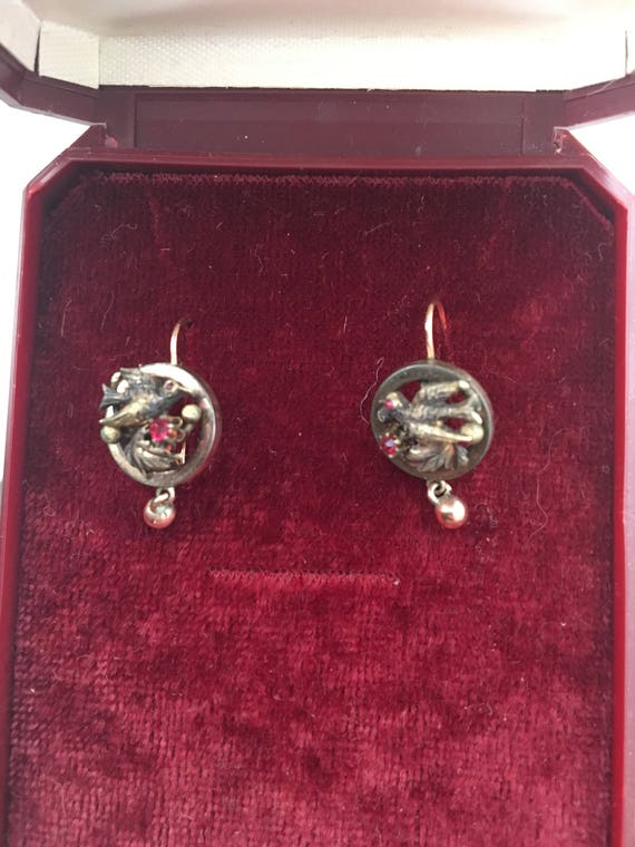 Antique victorian earrings - image 1