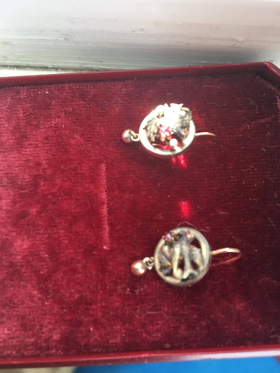 Antique victorian earrings - image 3