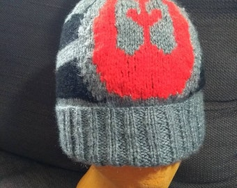 Star Wars - hand knitted Symbol of the Rebel Alliance hat