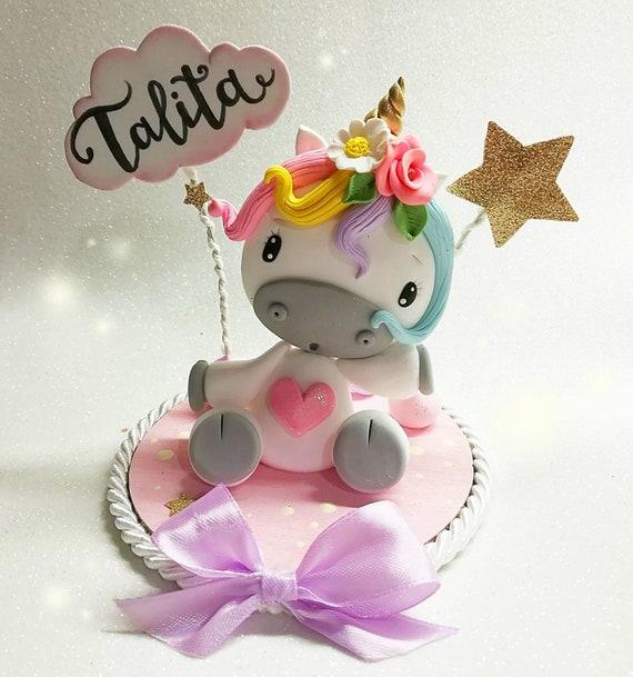 Cake topper decorazione torta unicorno compleanno etsy for Decorazione unicorno