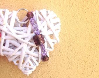 Shamballa Violet Glass Bracelet