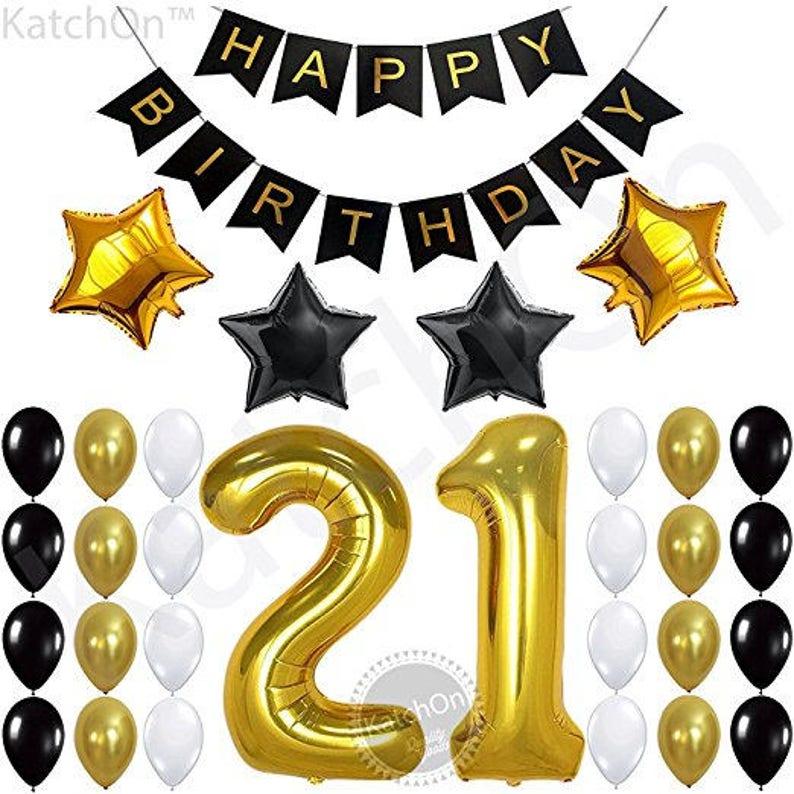 21st BIRTHDAY DECORATIONS PARTY Supplies Birthday