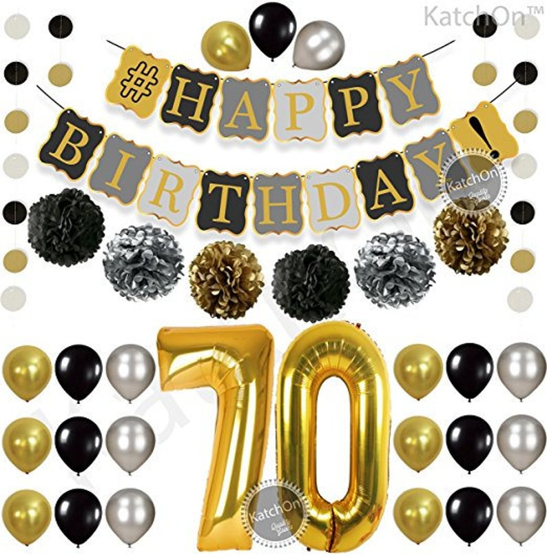 70th BIRTHDAY PARTY DECORATIONS Kit Birthday Party