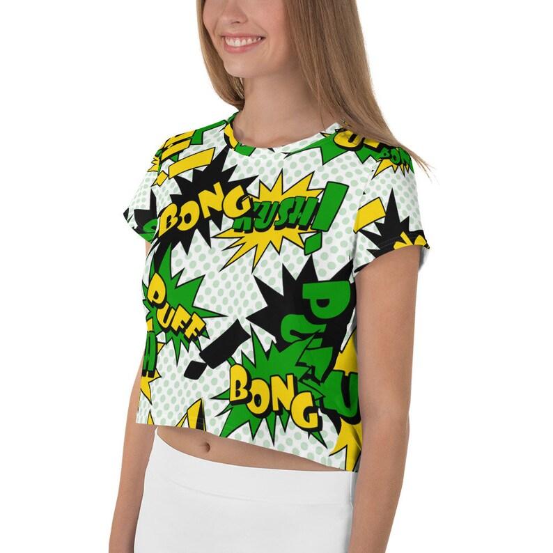 Cannabis Crop Shirt Weed Shirt Weed Clothing Jamaican Shirt Ganja Top Weed gifts Xmas Gift Women/'s T-shirt Stoner Gift Weed Top