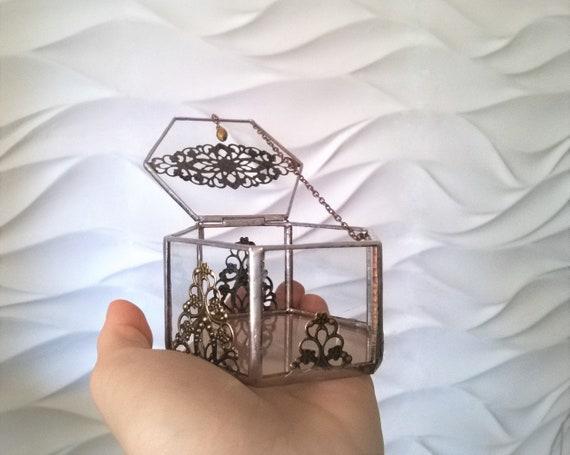 Geometric Glass Ring Box Holder Wedding Event Decor Item Etsy