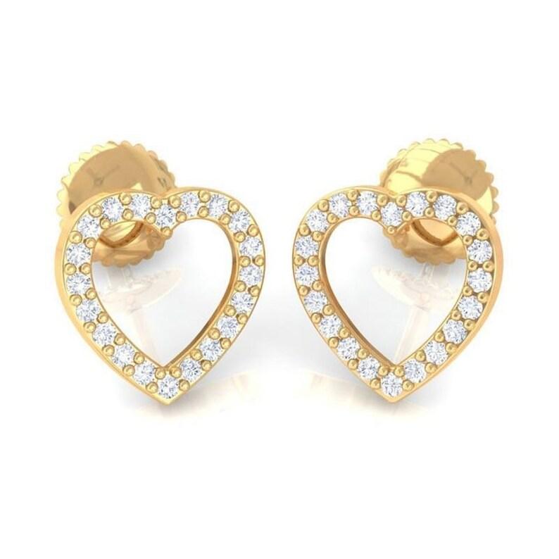 6551243fd 0.18 ct IJ SI-I1 Small Natural Real Diamonds Heart Shaped | Etsy